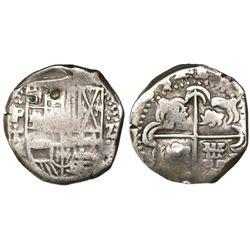 Potosi, Bolivia, cob 2 reales, (1)634T, rare.