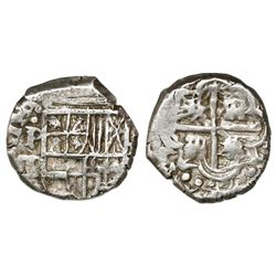 Potosi, Bolivia, cob 1 real, Philip IV, assayer T/P (1627-8).