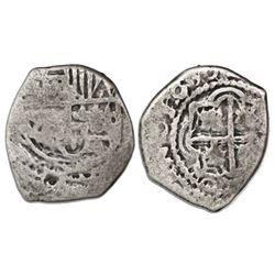Potosi, Bolivia, cob 1 real, 1630(T), very rare.
