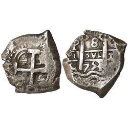 Potosi, Bolivia, cob 8 reales, 1753C.