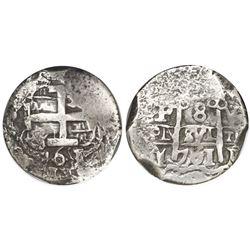 Potosi, Bolivia, cob 8 reales, 1761V-Y-V, encapsulated NGC VF 25.