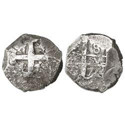 Potosi, Bolivia, cob 8 reales, 1772(V)-Y.