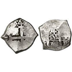 Potosi, Bolivia, cob 4 reales, 1713Y.