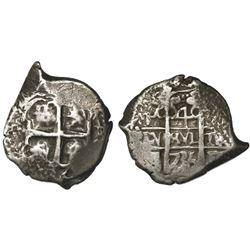 Potosi, Bolivia, cob 4 reales, 1735E.