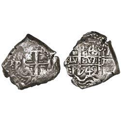 Potosi, Bolivia, cob 4 reales, 1742P.