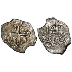 Potosi, Bolivia, cob 2 reales, 1684V.