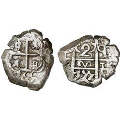 Potosi, Bolivia, cob 2 reales, 1755q.