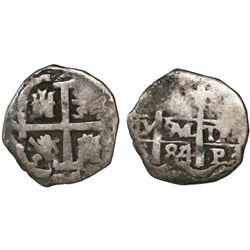 Potosi, Bolivia, cob 1 real, 1684/3(V), very rare.