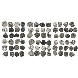 Collection of 37 Potosi, Bolivia, cob 1/2R, all dated, as follows: 1657, 1660, 1662, 1663, 1665, 166
