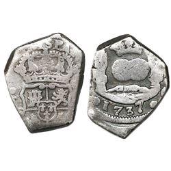 Guatemala, cob 4 reales, 1737J, ex-Richard Stuart.