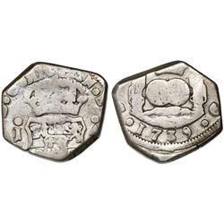 Guatemala, cob 4 reales, 1739J, ex-Richard Stuart.