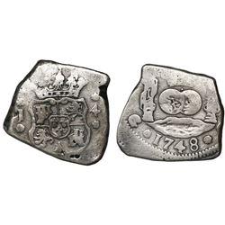 Guatemala, cob 4 reales, 1748J, ex-Richard Stuart.