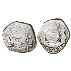 Guatemala, cob 2 reales, 1738(J), ex-Richard Stuart.