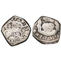 Guatemala, cob 2 reales, 1739(J), ex-Richard Stuart.