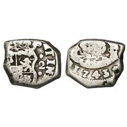 Guatemala, cob 2 reales, 1743/2(J), ex-Richard Stuart.