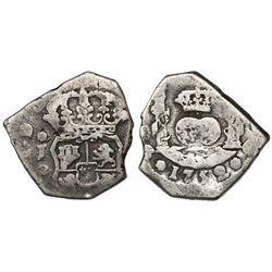 Guatemala, cob 2 reales, 1752J, ex-Richard Stuart.