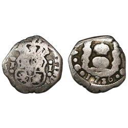 Guatemala, cob 1 real, 1736J, ex-Richard Stuart.