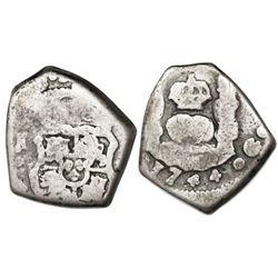 Guatemala, cob 1 real, 1744J, ex-Richard Stuart.