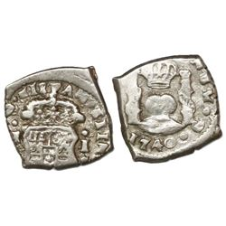 Guatemala, cob 1/2 real, 1740J, ex-Richard Stuart.