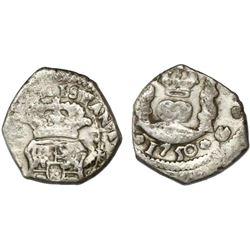 Guatemala, cob 1/2 real, 1750(J), ex-Richard Stuart.