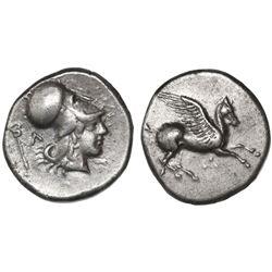 Akarnania, Leukas, AR stater, 350-320 BC, Pegasus.