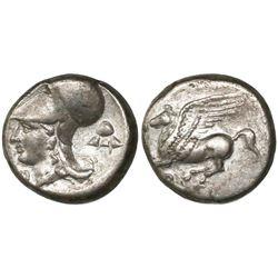 "Corinth, Corinthia, AR stater, ca. 375-300 BC, ""pegasus."""