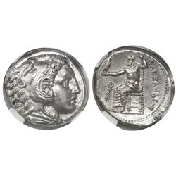 "Kings of Macedon, AR tetradrachm, Alexander III (""the Great""), 336-323 BC, early posthumous issue, P"
