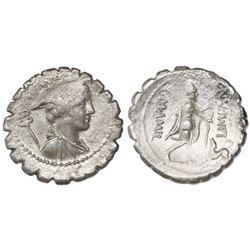 Roman Empire, AR denarius serratus, C. Mamilius Limetanus, 82 BC, Rome mint.