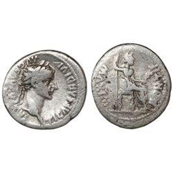 Roman Empire, AR denarius  tribute penny,  Tiberius,14-37 AD, Lugdunum mint..