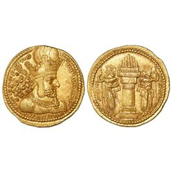 Sasanian Kings, AV dinar, Shapur I ( the Great,  240-272 AD), Ctesiphon mint, struck 260-272 AD.