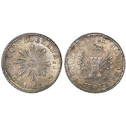 Cordoba, Argentina, 4 reales, 1847, encapsulated NGC AU 55.