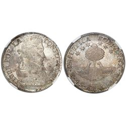 Potosi, Bolivia, 4 soles, 1830JL, encapsulated NGC MS 62.