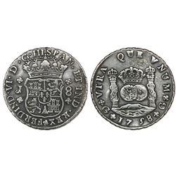 Guatemala, pillar 8 reales, Ferdinand VI, 1758J, ex-Richard Stuart.