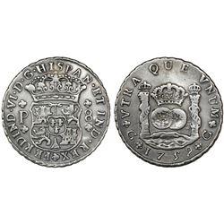 Guatemala, pillar 8 reales, Ferdinand VI, 1759P, ex-Richard Stuart.