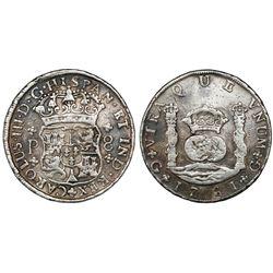 Guatemala, pillar 8 reales, Charles III, 1761P, ex-Richard Stuart.