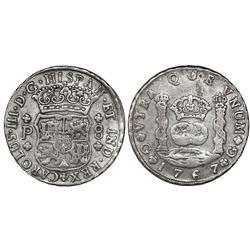 Guatemala, pillar 8 reales, Charles III, 1767P, ex-Richard Stuart.