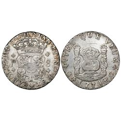 Guatemala, pillar 8 reales, Charles III, 1771P, ex-Richard Stuart.