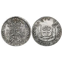 Guatemala, pillar 4 reales, Ferdinand VI, 1758J, ex-Richard Stuart.