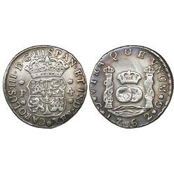 Guatemala, pillar 4 reales, Charles III, 1762P, ex-Richard Stuart.