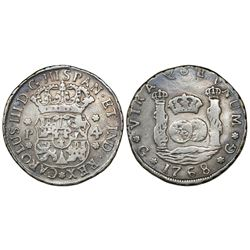 Guatemala, pillar 4 reales, Charles III, 1768P, ex-Richard Stuart.