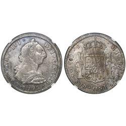 Guatemala, bust 8 reales, Charles III, 1772P, encapsulated NGC VF 30, ex-Richard Stuart (stated insi