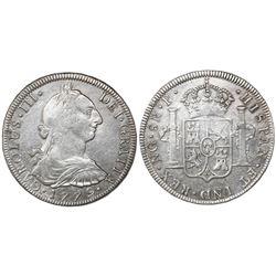 Guatemala, bust 8 reales, Charles III, 1779P, ex-Richard Stuart.