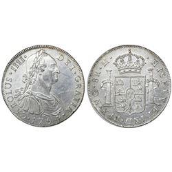 Guatemala, bust 8 reales, Charles IV, 1794M, ex-Richard Stuart.