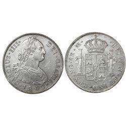 Guatemala, bust 8 reales, Charles IV, 1802M, ex-Richard Stuart.
