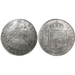 Guatemala, bust 8 reales, Ferdinand VII (bust of Charles IV), 1809M, ex-Richard Stuart.