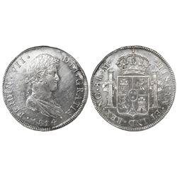 Guatemala, bust 8 reales, Ferdinand VII, 1814M, ex-Richard Stuart.
