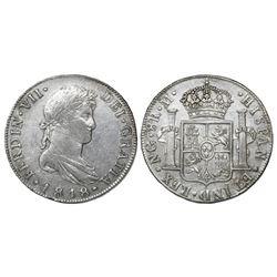 Guatemala, bust 8 reales, Ferdinand VII, 1818M, ex-Richard Stuart.