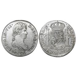 Guatemala, bust 8 reales, Ferdinand VII, 1821M, ex-Richard Stuart.