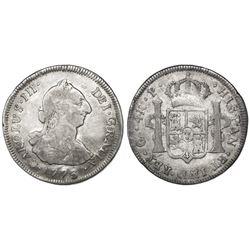 Guatemala, bust 4 reales, Charles III, 1773P, ex-Richard Stuart.