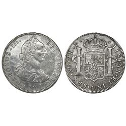 Guatemala, bust 4 reales, Charles III, 1777P, ex-Richard Stuart.